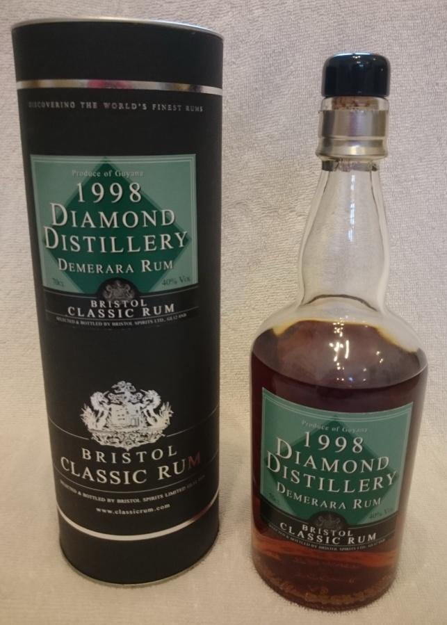 Bristol Classic Rum Diamond Distillery Demerara Rum1998