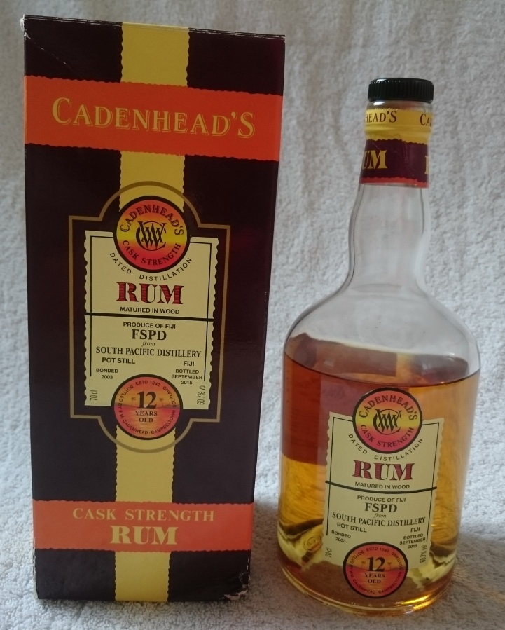 Cadenhead's Single Cask Rum FSPD South Pacific Distillery (Fiji)