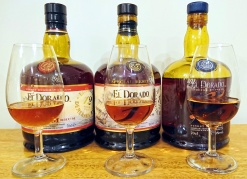 El Dorado 12, 15 & 21yo Bottles & Glasses