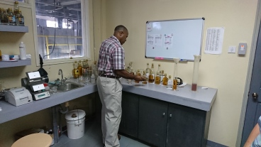 Vivian pouring samples