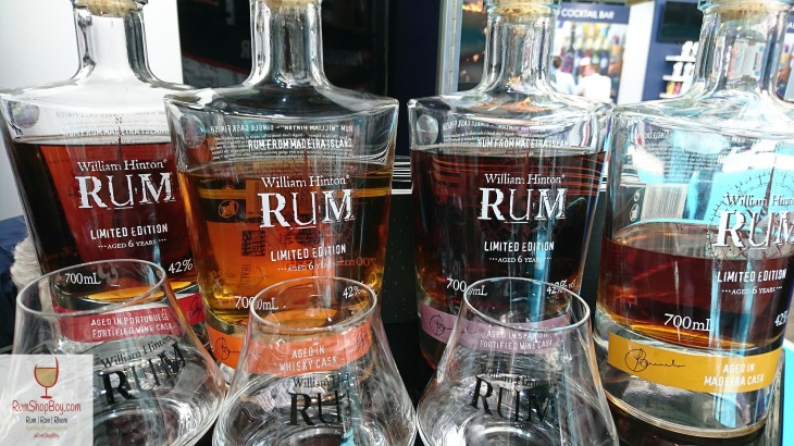William Hinton Cask Finished Rums: Bottles