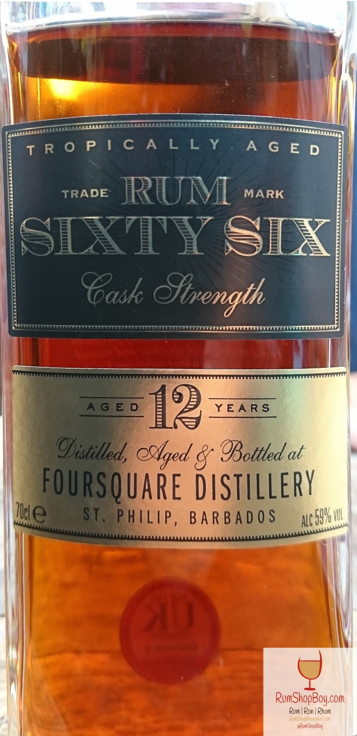 Rum Sixty Six (Cask Strength) Bottle (Photo taken at Imbibe 2017)