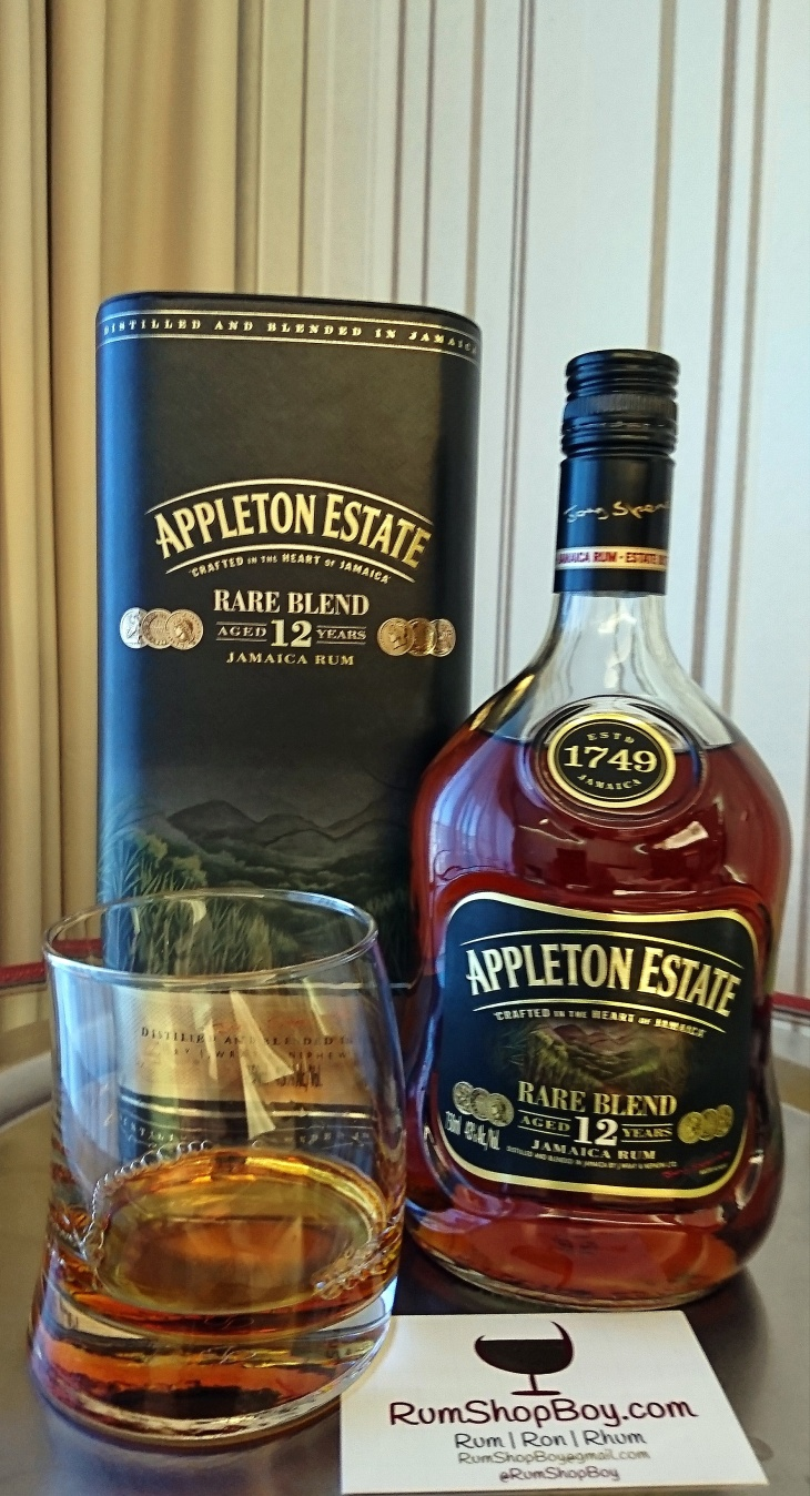 "Appleton 12yo ""Rare Blend"" Rum: Tin, Bottle & Glass"