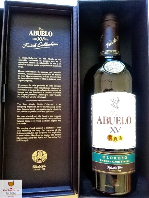 Ron Abuelo: XV Oloroso Cask Finish: Box & Bottle