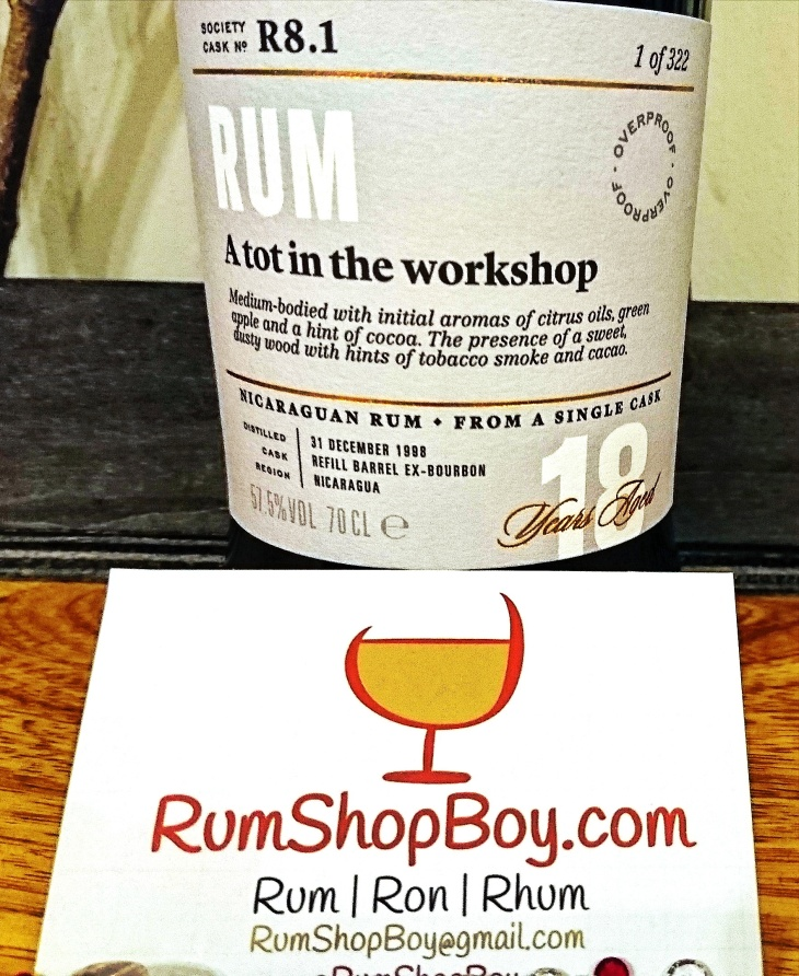 "SMWS R8.1: ""A Tot In The Workshop"": Label"