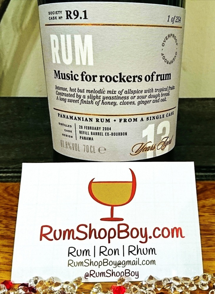 "SMWS R9.1: ""Music For Rockers of Rum"": Label"