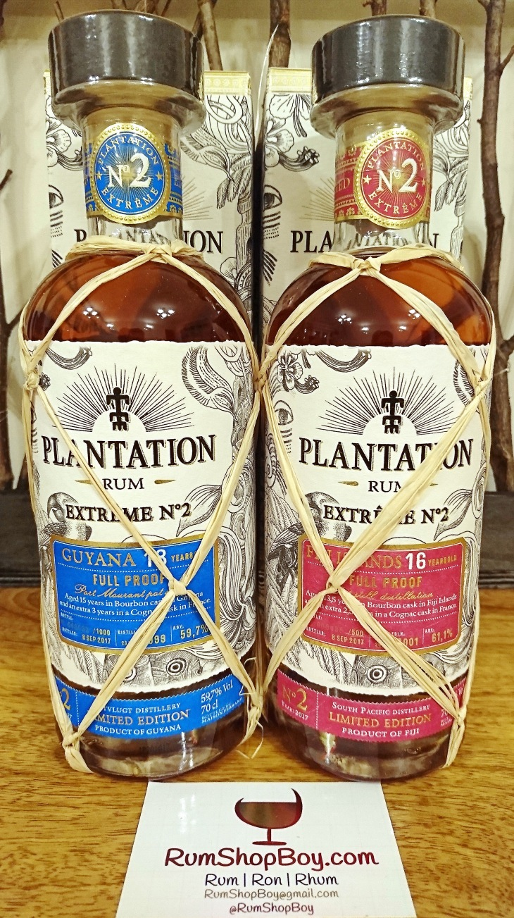 Plantation Extrême 2 Fiji 16 YO and Guyana 18yo: Bottles and Boxes