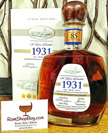 St. Lucia Distillers 1931 Sixth Edition: Bottle & Box