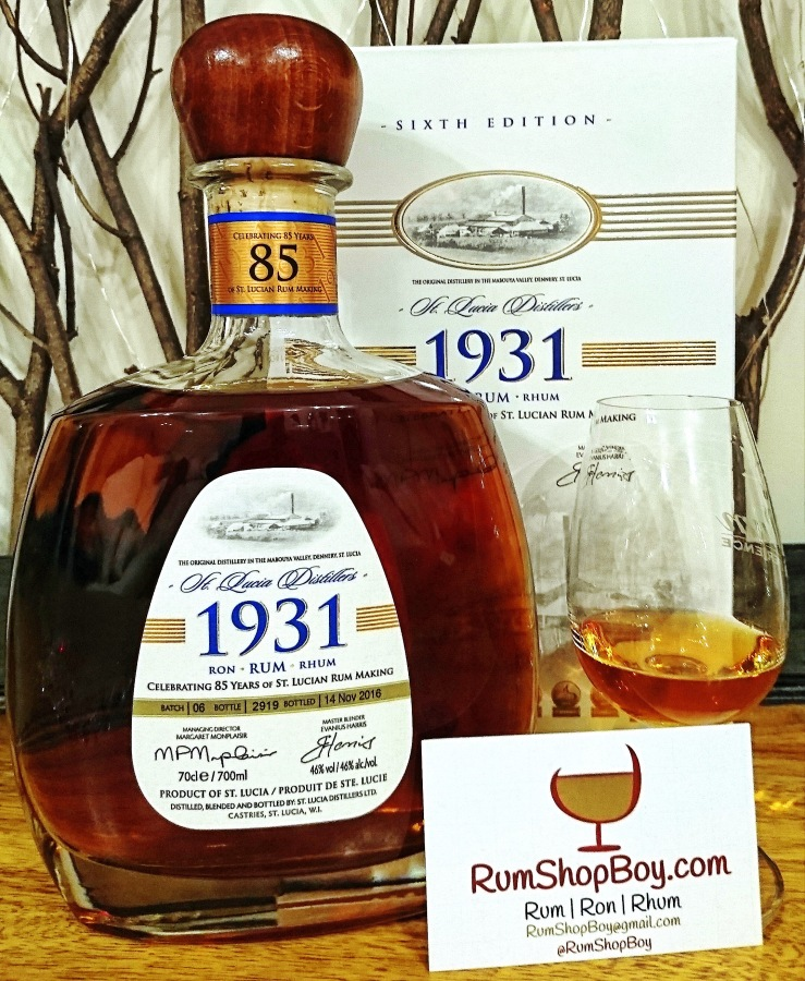 St. Lucia Distillers 1931: Sixth Edition