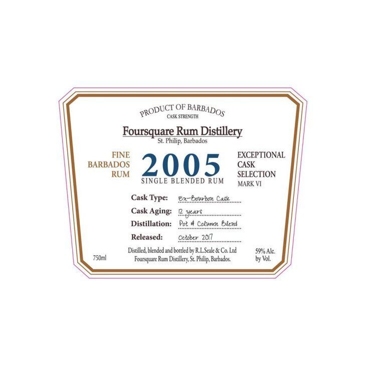 Foursquare: Exceptional Cask Exceptional Cask Selection VI: 2005: Label
