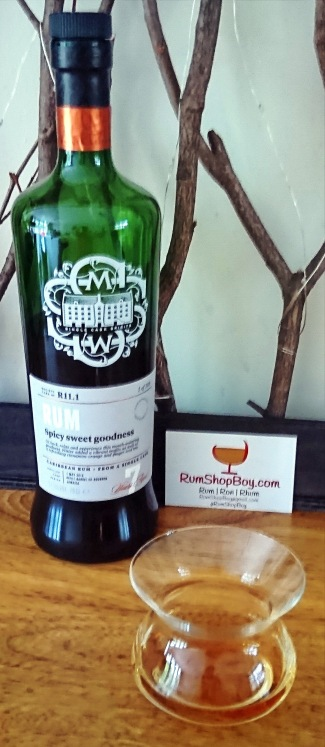 """SMWS R11.1: """"Spicy Sweet Goodness"""": Bottle and Glass"""