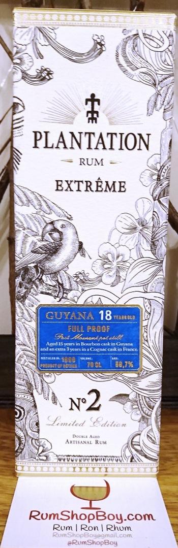 Plantation Extrême 2 Guyana 18 YO: Box