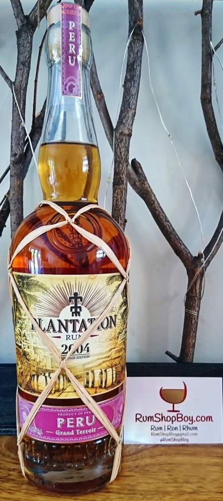 Plantation Peru 2004 Rum: Bottle