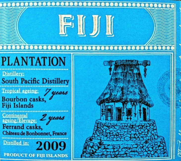 Plantation Fiji 2009 Rum: Box Label