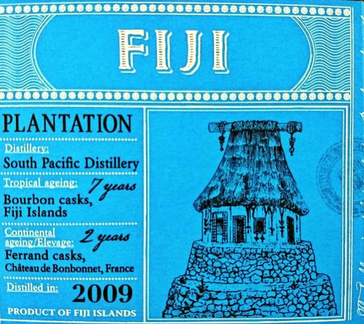 Plantation Fiji 2009 Rum: Box Label