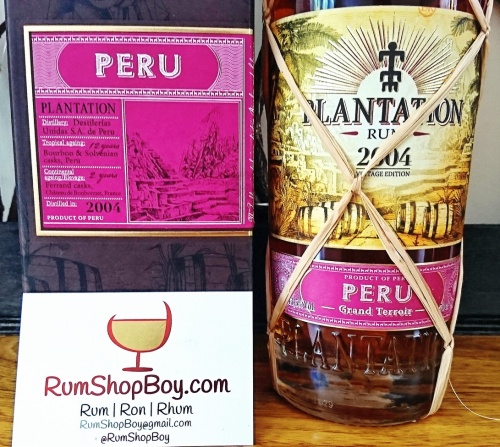 Plantation Peru 2004 Rum: Box and Bottle