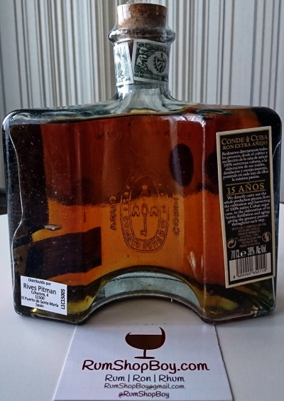 Conde de Cuba 15 Anos Rum: Bottle (Rear)