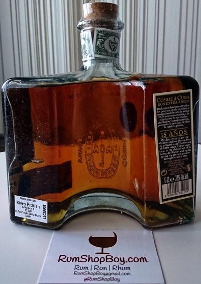 Conde de Cuba 15 Anos Rum: Bottle (Rear)