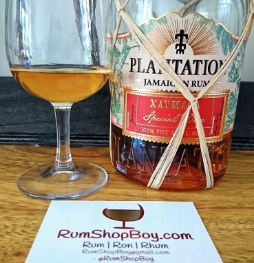 Plantation Xaymaca Special Dry Rum: Bottle and Glass