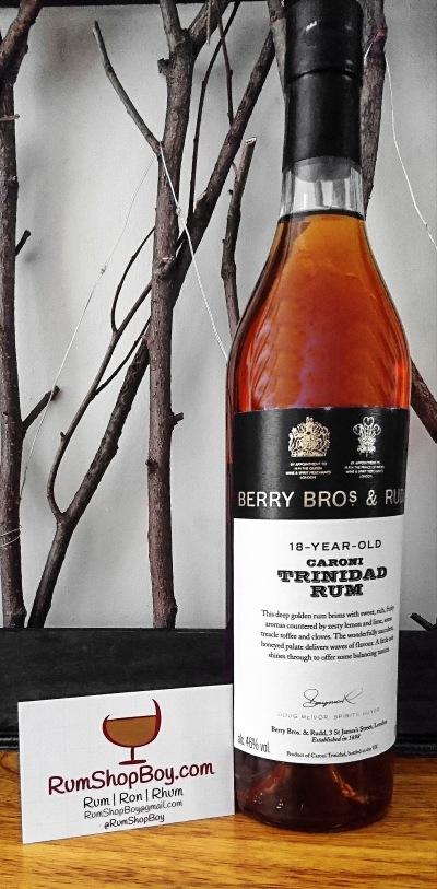BBR 18 Year Old Caroni Rum: Bottle
