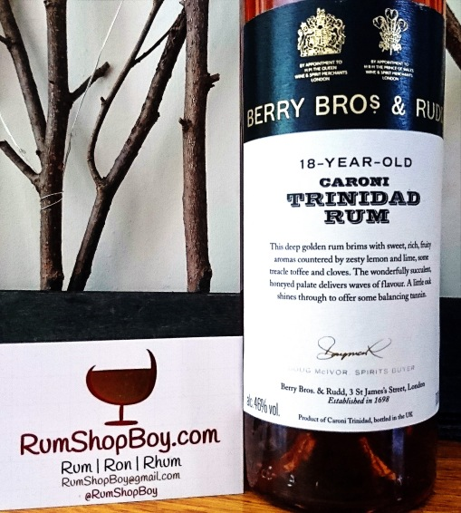 BBR 18 Year Old Caroni Rum: Bottle (Front Label)