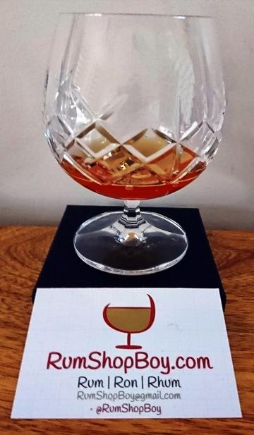 The Duchess Barbados Foursquare 13yo Rum: Glass