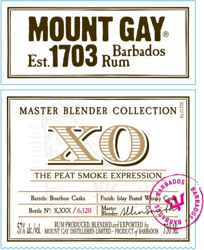 Mount Gay XO Peat Smoke Expression: Label Front (US) (Photo From Internet)