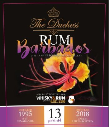 The Duchess Barbados Foursquare 13yo Rum: Label (Photo From Internet)