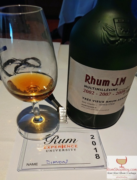 Rhum JM Multimillésime: Bottle and Glass