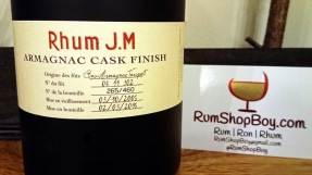 Rhum JM Armagnac Finish: Front Label