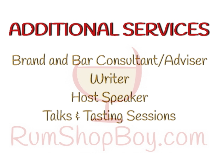 Rum  Shop Boy: Business Card (Rear)