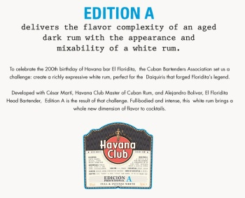Havana Club Edicion A: Label (Photo From Internet)