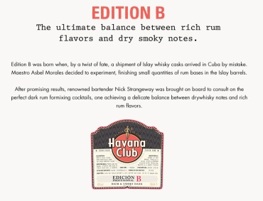 Havana Club Edicion B: Label (Photo From Internet)