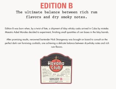Havana Club Edicion B: Label (Photo From Internet)