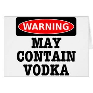 May Contain Vodka
