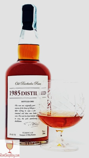 1985 Distilled Bottle & Glass