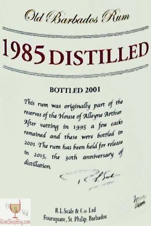 1985 Distilled Label