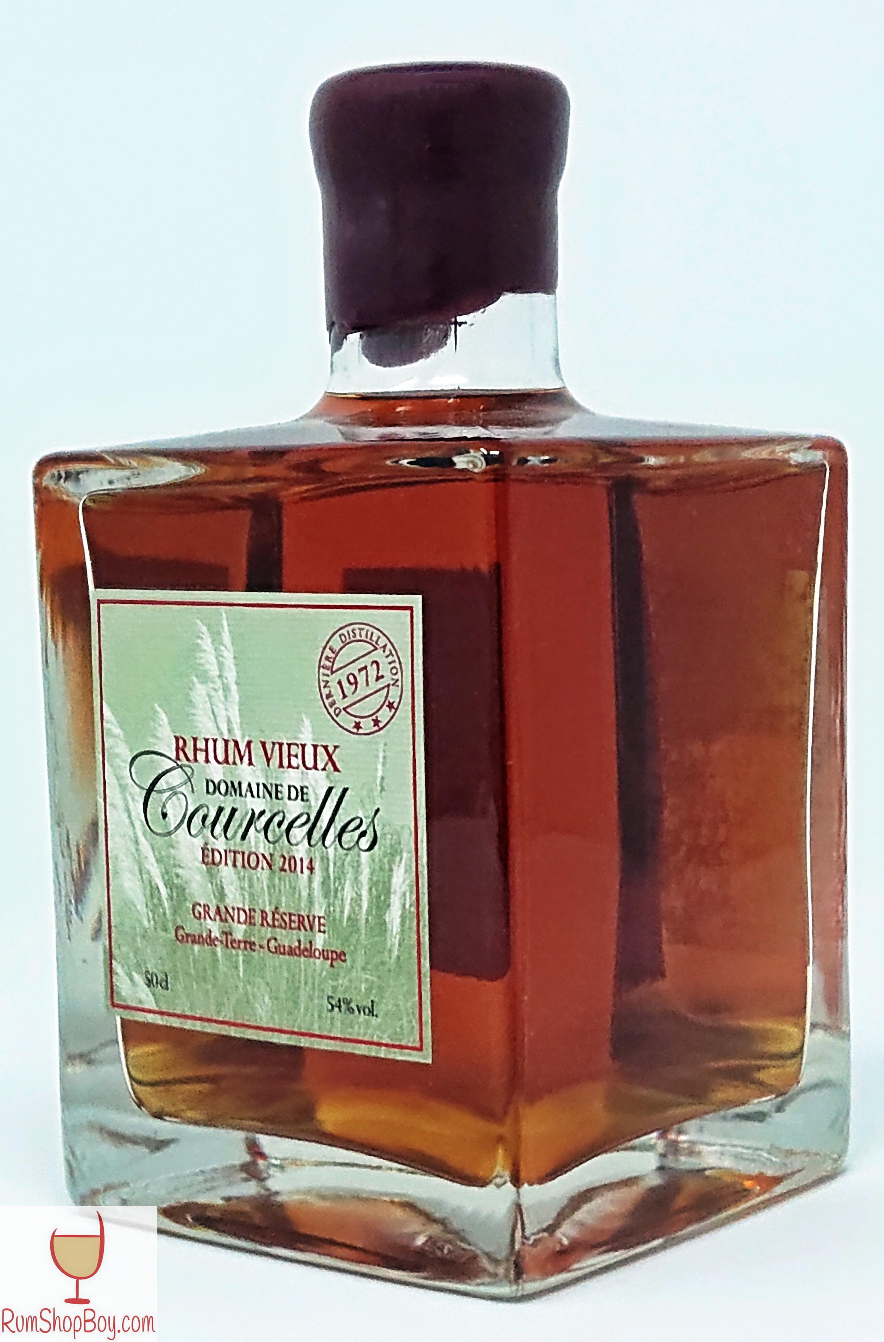 Domaine de Courcelles (1972) Bottle (Side)