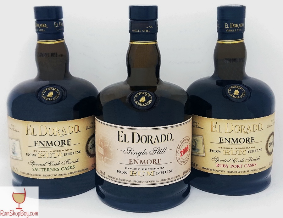 El Dorado 2003/2006 ENMORE Rums (Cask Finishes) Bottles
