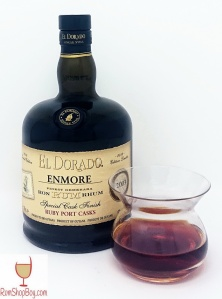 Enmore (Ruby Port wine Cask Finish) 2003 15yo Bottle and Glass
