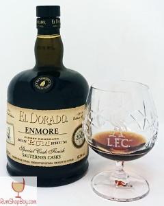 Enmore (Sauternes Cask Finish) 2003 15yo Bottle and Glass