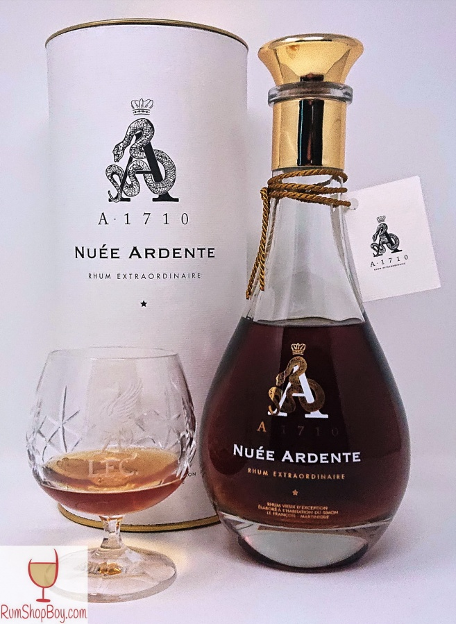 A1710 Nuée Ardente Box, Bottle and Glass