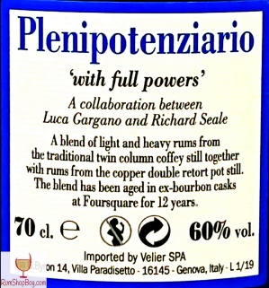Plenipotenziario Rear Label