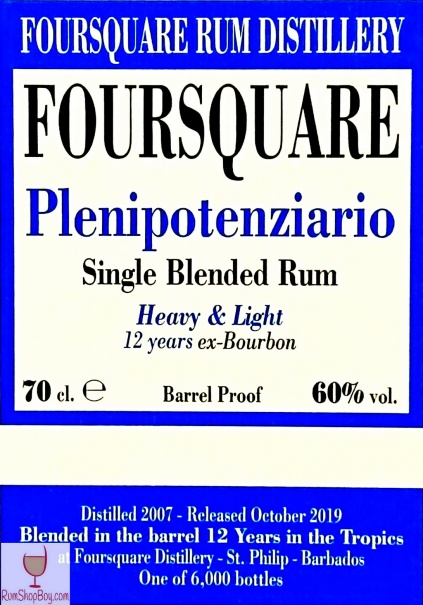 Plenipotenziario Front Label