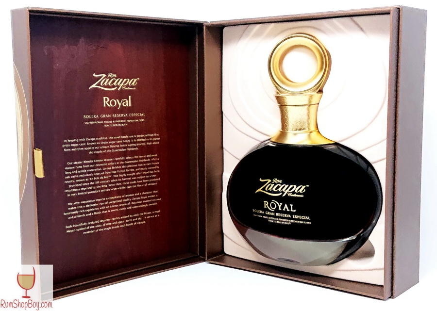 Ron Zacapa Royal Box and Bottle