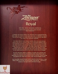 Ron Zacapa Royal Box (Inside)