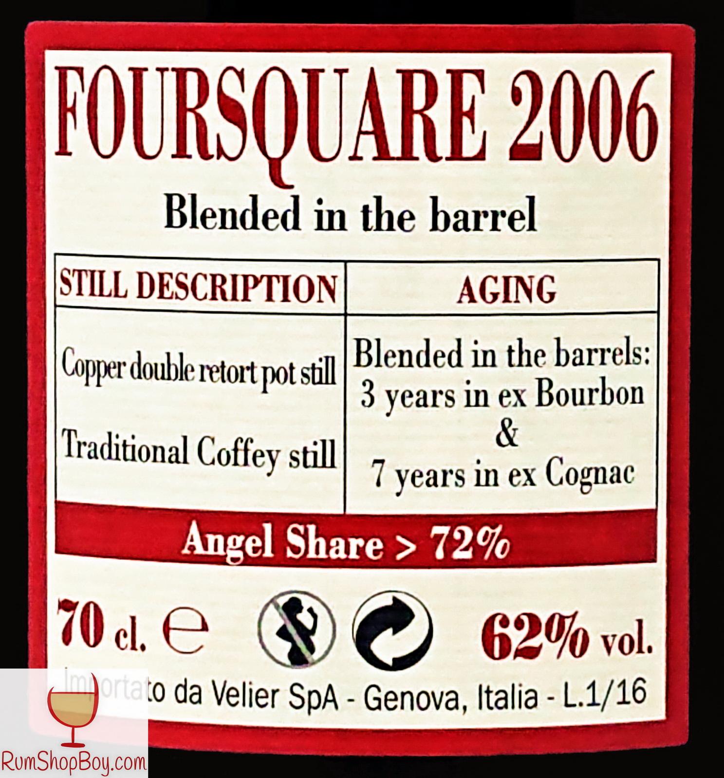Foursquare 2006 Rear Label