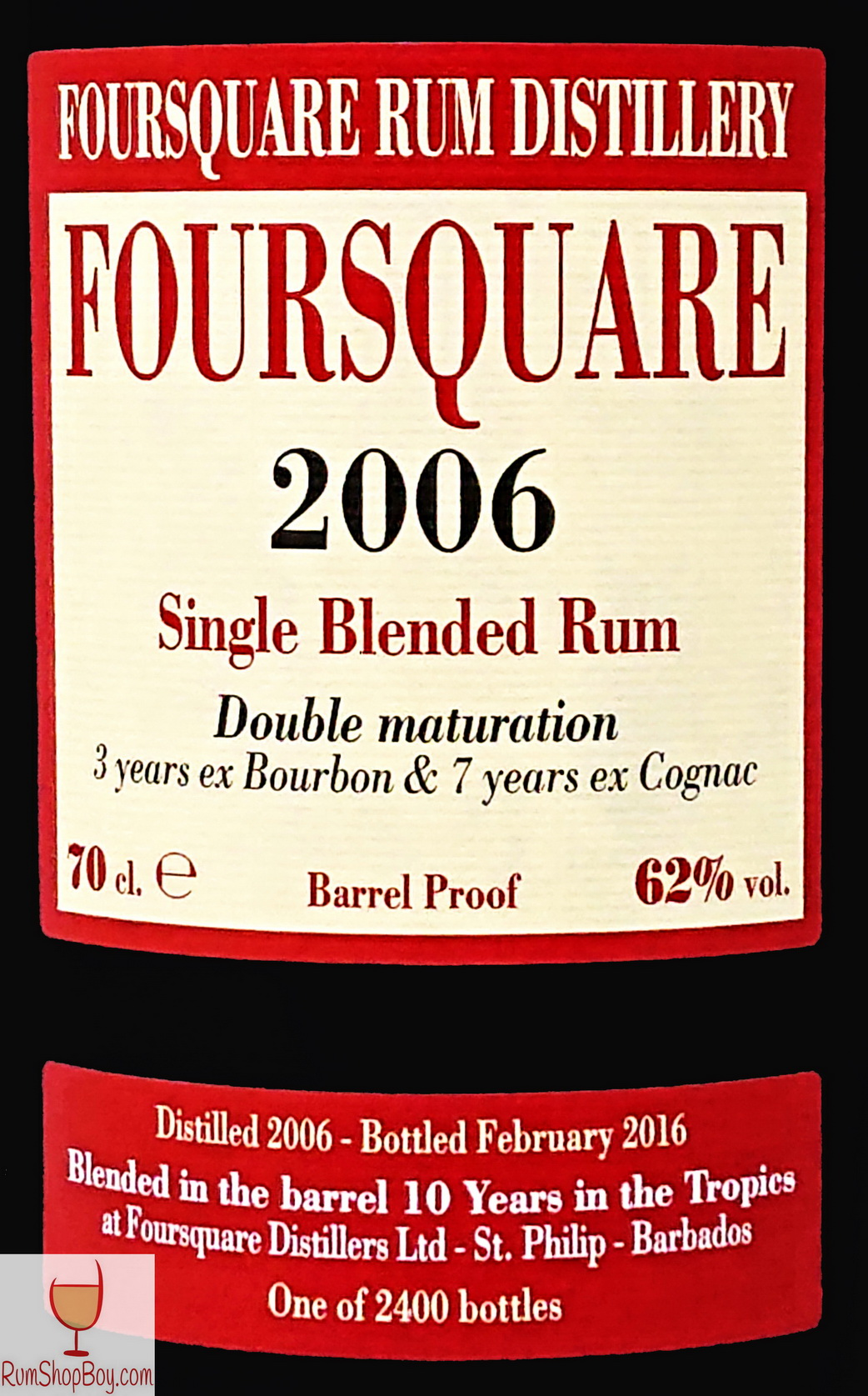 Foursquare 2006 Front Label