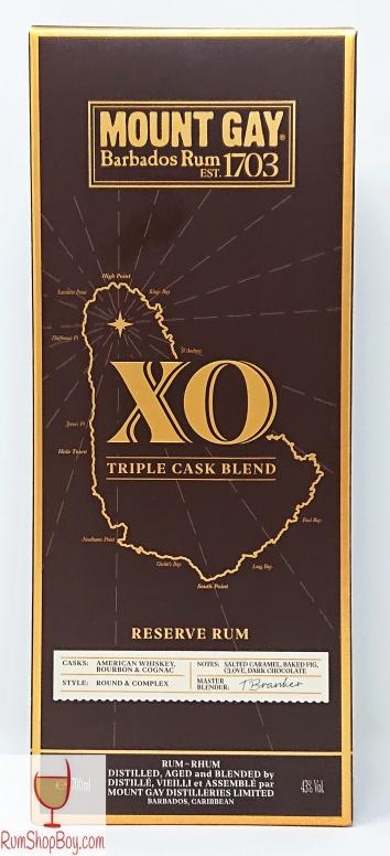 Mount Gay XO Triple Cask Blend Box