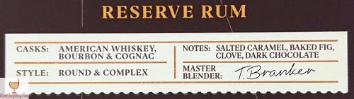 Mount Gay XO Triple Cask Blend Box Label